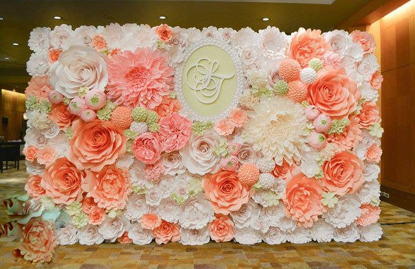 Бумажные цветы на оформление свадьбы своими руками 81